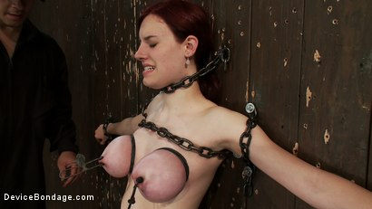 Photo number 3 from Gorgeous All Natural 19 Year Old Newbie Chained to the Wall shot for Device Bondage on Kink.com. Featuring Iona Grace in hardcore BDSM & Fetish porn.