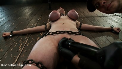 Photo number 6 from Gorgeous All Natural 19 Year Old Newbie Chained to the Wall shot for Device Bondage on Kink.com. Featuring Iona Grace in hardcore BDSM & Fetish porn.