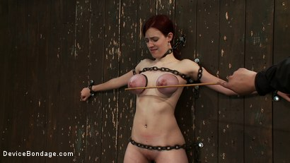 Photo number 7 from Gorgeous All Natural 19 Year Old Newbie Chained to the Wall shot for Device Bondage on Kink.com. Featuring Iona Grace in hardcore BDSM & Fetish porn.