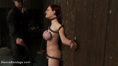 Photo number 8 from Gorgeous All Natural 19 Year Old Newbie Chained to the Wall shot for Device Bondage on Kink.com. Featuring Iona Grace in hardcore BDSM & Fetish porn.