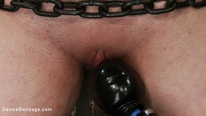 Photo number 4 from Gorgeous All Natural 19 Year Old Newbie Chained to the Wall shot for Device Bondage on Kink.com. Featuring Iona Grace in hardcore BDSM & Fetish porn.