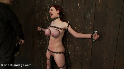 Photo number 9 from Gorgeous All Natural 19 Year Old Newbie Chained to the Wall shot for Device Bondage on Kink.com. Featuring Iona Grace in hardcore BDSM & Fetish porn.