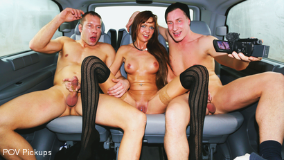 Melina Pure: Banged in the Back Seat