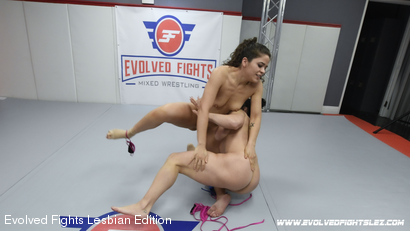 Photo number 19 from Tournament Round 1: Match 1 - Victoria Voxxx vs Brandi Mae shot for Evolved Fights Lesbian Edition on Kink.com. Featuring Victoria Voxxx and Brandi Mae in hardcore BDSM & Fetish porn.