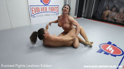 Photo number 30 from Tournament Round 1: Match 1 - Victoria Voxxx vs Brandi Mae shot for Evolved Fights Lesbian Edition on Kink.com. Featuring Victoria Voxxx and Brandi Mae in hardcore BDSM & Fetish porn.