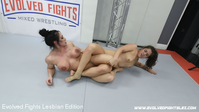 Photo number 33 from Tournament Round 1: Match 1 - Victoria Voxxx vs Brandi Mae shot for Evolved Fights Lesbian Edition on Kink.com. Featuring Victoria Voxxx and Brandi Mae in hardcore BDSM & Fetish porn.