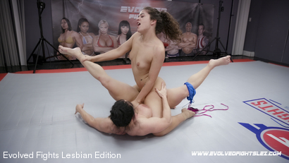 Photo number 85 from Tournament Round 1: Match 1 - Victoria Voxxx vs Brandi Mae shot for Evolved Fights Lesbian Edition on Kink.com. Featuring Victoria Voxxx and Brandi Mae in hardcore BDSM & Fetish porn.