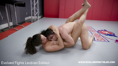 Photo number 89 from Tournament Round 1: Match 1 - Victoria Voxxx vs Brandi Mae shot for Evolved Fights Lesbian Edition on Kink.com. Featuring Victoria Voxxx and Brandi Mae in hardcore BDSM & Fetish porn.