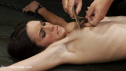 Photo number 2 from One girl is stretched to the limit of her body<br> The other takes the cane and takes it hard! shot for Device Bondage on Kink.com. Featuring Miss Jade Indica, Isis Love and Amber Rayne in hardcore BDSM & Fetish porn.