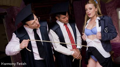 Filthy Schoolgirl Double Penetration