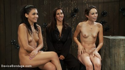 Photo number 15 from Aphla & Omega working together to make little bitches cum like sluts<br>You don't see this everyday shot for Device Bondage on Kink.com. Featuring Miss Jade Indica, Isis Love and Amber Rayne in hardcore BDSM & Fetish porn.