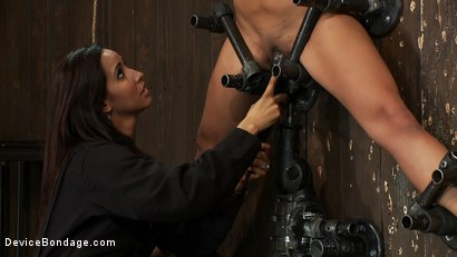 Photo number 10 from Aphla & Omega working together to make little bitches cum like sluts<br>You don't see this everyday shot for Device Bondage on Kink.com. Featuring Miss Jade Indica, Isis Love and Amber Rayne in hardcore BDSM & Fetish porn.