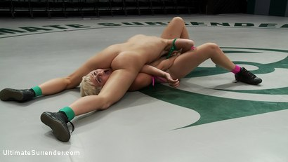 Photo number 13 from Chloe Camilla is destroyed and humiliated on the mat<br>Non-Scripted brutal real wrestling. shot for Ultimate Surrender on Kink.com. Featuring Ariel X and Chloe Camilla in hardcore BDSM & Fetish porn.