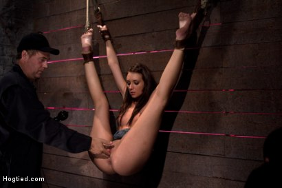 Photo number 10 from Here is a nice piece of art for your wall.<br>Careful, if you play with it, it squirts everywhere. shot for Hogtied on Kink.com. Featuring Katie Jordin in hardcore BDSM & Fetish porn.