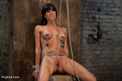Photo number 1 from This is old school bondage and suffering at its best.   The backbreaking crotch rope from HELL. shot for Hogtied on Kink.com. Featuring Isis Love and Gia DiMarco in hardcore BDSM & Fetish porn.
