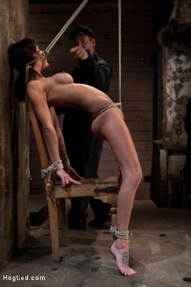 Photo number 11 from This is old school bondage and suffering at its best.   The backbreaking crotch rope from HELL. shot for Hogtied on Kink.com. Featuring Isis Love and Gia DiMarco in hardcore BDSM & Fetish porn.