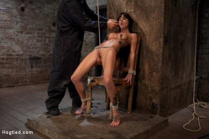 Photo number 3 from This is old school bondage and suffering at its best.   The backbreaking crotch rope from HELL. shot for Hogtied on Kink.com. Featuring Isis Love and Gia DiMarco in hardcore BDSM & Fetish porn.