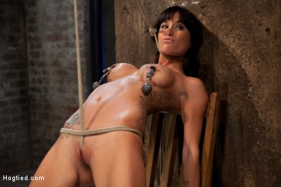 Photo number 5 from This is old school bondage and suffering at its best.   The backbreaking crotch rope from HELL. shot for Hogtied on Kink.com. Featuring Isis Love and Gia DiMarco in hardcore BDSM & Fetish porn.