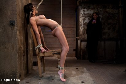 Photo number 9 from This is old school bondage and suffering at its best.   The backbreaking crotch rope from HELL. shot for Hogtied on Kink.com. Featuring Isis Love and Gia DiMarco in hardcore BDSM & Fetish porn.