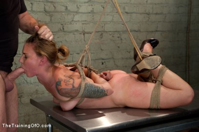 Photo number 5 from The Testing of Payton Bell shot for The Training Of O on Kink.com. Featuring Mark Davis and Payton Bell in hardcore BDSM & Fetish porn.