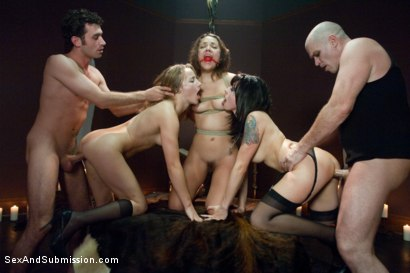 Photo number 12 from Vamp Episode 1: A Fall From Grace shot for Sex And Submission on Kink.com. Featuring James Deen, Kristina Rose, Mark Davis, Jessie Cox and Lorelei Lee in hardcore BDSM & Fetish porn.