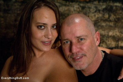 Photo number 15 from Double Anal and Latex shot for Everything Butt on Kink.com. Featuring Mark Davis and Trina Michaels in hardcore BDSM & Fetish porn.