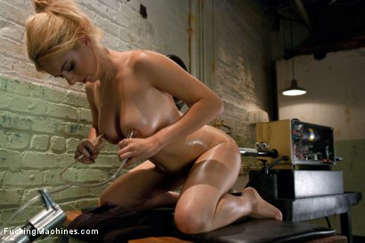 Photo number 8 from 19 year old Underwear Model Tries the Machines shot for Fucking Machines on Kink.com. Featuring Katie in hardcore BDSM & Fetish porn.