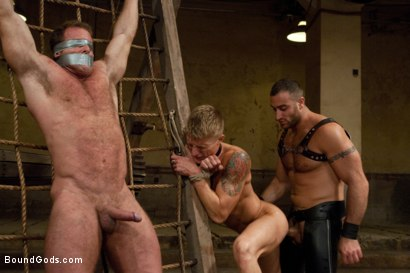 Photo number 14 from Pain Limit - Live Shoot shot for Bound Gods on Kink.com. Featuring Phillip Aubrey, Spencer Reed, Derek Pain and Van Darkholme in hardcore BDSM & Fetish porn.