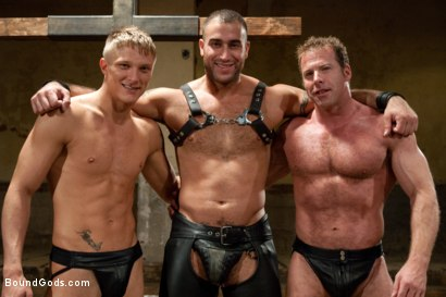 Photo number 15 from Pain Limit - Live Shoot shot for Bound Gods on Kink.com. Featuring Phillip Aubrey, Spencer Reed, Derek Pain and Van Darkholme in hardcore BDSM & Fetish porn.