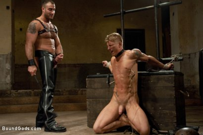 Photo number 6 from Pain Limit - Live Shoot shot for Bound Gods on Kink.com. Featuring Phillip Aubrey, Spencer Reed, Derek Pain and Van Darkholme in hardcore BDSM & Fetish porn.