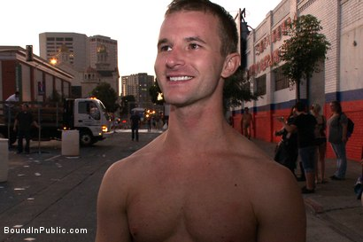 Photo number 15 from Folsom Street Trash shot for Bound in Public on Kink.com. Featuring Drew Cutler and Cameron Adams in hardcore BDSM & Fetish porn.
