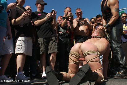 Photo number 1 from Folsom Street Trash shot for Bound in Public on Kink.com. Featuring Drew Cutler and Cameron Adams in hardcore BDSM & Fetish porn.