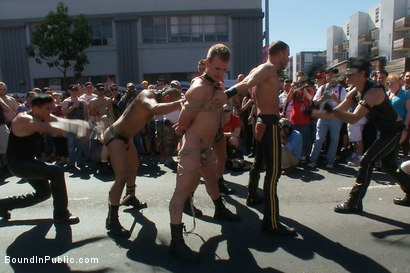 Photo number 4 from Folsom Street Trash shot for Bound in Public on Kink.com. Featuring Drew Cutler and Cameron Adams in hardcore BDSM & Fetish porn.