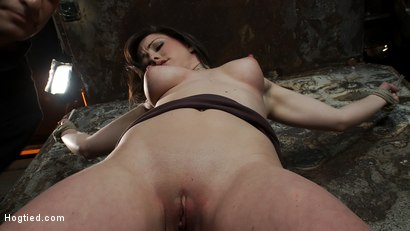 Photo number 5 from Beautiful girl next door is bound spread & helpless<br>Fingered, vibrated to orgasms after orgasms.  shot for Hogtied on Kink.com. Featuring Jennifer White in hardcore BDSM & Fetish porn.