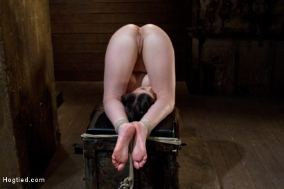 Photo number 2 from Hogtied:   The most beautiful girls on the planet, suffering and cumming. shot for Hogtied on Kink.com. Featuring Jennifer White in hardcore BDSM & Fetish porn.
