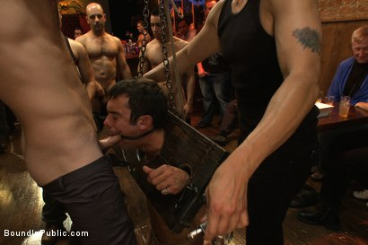 Photo number 2 from Bar Whore shot for Bound in Public on Kink.com. Featuring Scout, Christian Wilde and Cole Streets in hardcore BDSM & Fetish porn.