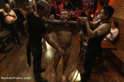 Photo number 6 from Bar Whore shot for Bound in Public on Kink.com. Featuring Scout, Christian Wilde and Cole Streets in hardcore BDSM & Fetish porn.