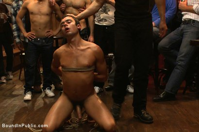 Photo number 14 from Bar Whore shot for Bound in Public on Kink.com. Featuring Scout, Christian Wilde and Cole Streets in hardcore BDSM & Fetish porn.