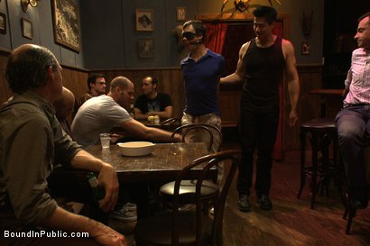 Photo number 1 from Bar Whore shot for Bound in Public on Kink.com. Featuring Scout, Christian Wilde and Cole Streets in hardcore BDSM & Fetish porn.