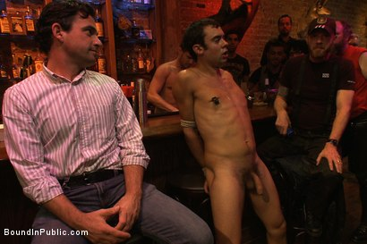 Photo number 3 from Bar Whore shot for Bound in Public on Kink.com. Featuring Scout, Christian Wilde and Cole Streets in hardcore BDSM & Fetish porn.