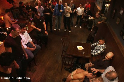 Photo number 4 from Bar Whore shot for Bound in Public on Kink.com. Featuring Scout, Christian Wilde and Cole Streets in hardcore BDSM & Fetish porn.