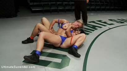 Photo number 2 from Dragon Destroyed on the Mat! Made to CUM During Wrestling! She is in tears trying not to cum shot for Ultimate Surrender on Kink.com. Featuring DragonLily and Dia Zerva in hardcore BDSM & Fetish porn.