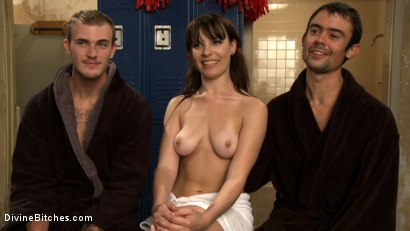Photo number 9 from Brat Princess Cuckolds Her Boyrfriend With Football Coach! shot for Divine Bitches on Kink.com. Featuring Dana DeArmond, Scout and Christian Wilde in hardcore BDSM & Fetish porn.