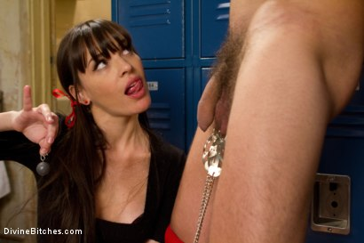 Photo number 3 from Brat Princess Cuckolds Her Boyrfriend With Football Coach! shot for Divine Bitches on Kink.com. Featuring Dana DeArmond, Scout and Christian Wilde in hardcore BDSM & Fetish porn.