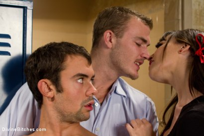 Photo number 2 from Brat Princess Cuckolds Her Boyrfriend With Football Coach! shot for Divine Bitches on Kink.com. Featuring Dana DeArmond, Scout and Christian Wilde in hardcore BDSM & Fetish porn.
