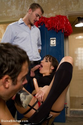Photo number 14 from Brat Princess Cuckolds Her Boyrfriend With Football Coach! shot for Divine Bitches on Kink.com. Featuring Dana DeArmond, Scout and Christian Wilde in hardcore BDSM & Fetish porn.