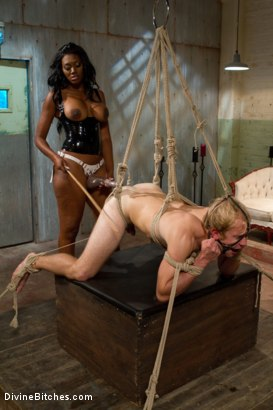 Photo number 15 from Amazon African Goddess And The Lily White Bitchboy shot for Divine Bitches on Kink.com. Featuring Ned Mayhem and Nyomi Banxxx in hardcore BDSM & Fetish porn.