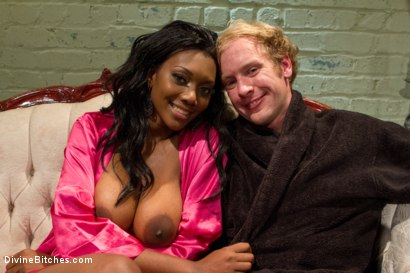Photo number 7 from Amazon African Goddess And The Lily White Bitchboy shot for Divine Bitches on Kink.com. Featuring Ned Mayhem and Nyomi Banxxx in hardcore BDSM & Fetish porn.