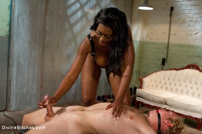 Photo number 9 from Amazon African Goddess And The Lily White Bitchboy shot for Divine Bitches on Kink.com. Featuring Ned Mayhem and Nyomi Banxxx in hardcore BDSM & Fetish porn.