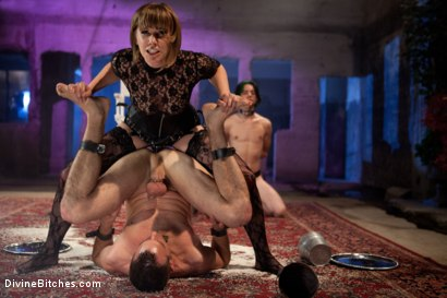 "Photo number 15 from Educating a Bitchboy: Episode 5 ""Ultimate Denial"" shot for Divine Bitches on Kink.com. Featuring Jason Miller, Maitresse Madeline Marlowe  and Kade in hardcore BDSM & Fetish porn."